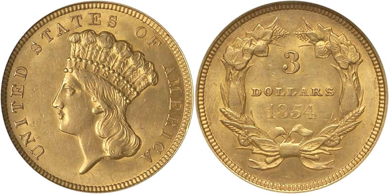 Three Dollar Gold Piece