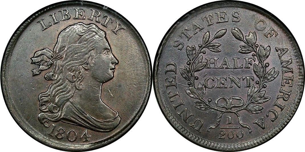 1804 Draped Bust Half Cent