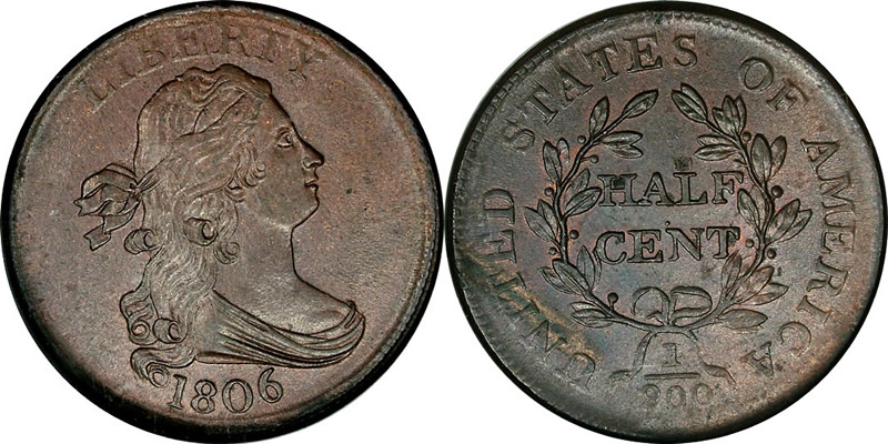 Draped Bust Half Cent 1806 Draped Bust Half Cent