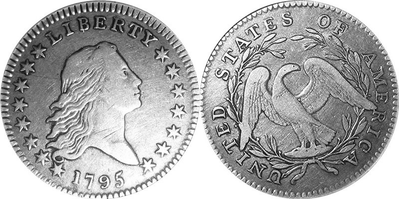 Flowing Hair Half Dollars 1795 Flowing Hair Half Dollar
