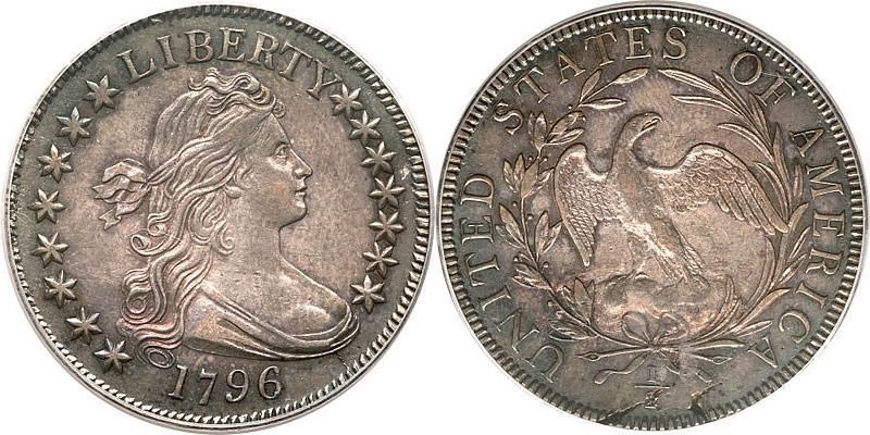 Draped Bust Half Dollar 1796 Draped Bust Half Dollar