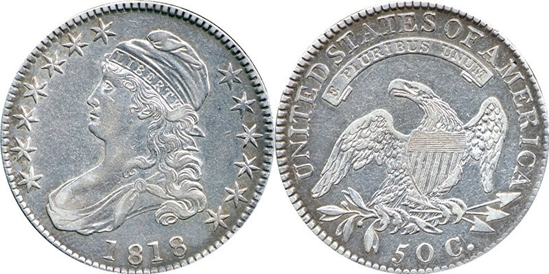 1818 Capped Bust Half Dollar