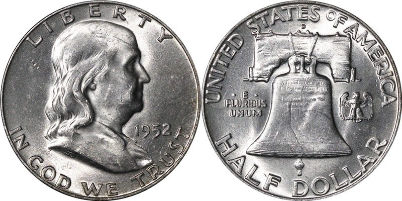 1952 D Franklin Half Dollar