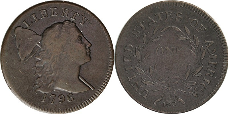 1796 Liberty Cap Cent Obverse and Reverse