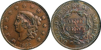 1832 Liberty Head (Matron) Large Cent
