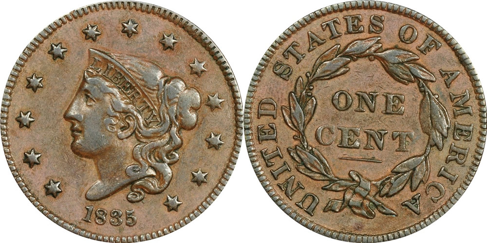 Liberty Head (Matron) Large Cent