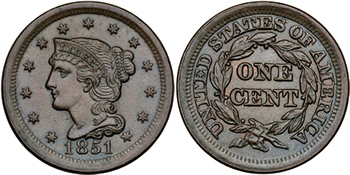 1839 Liberty Head (Braided Hair) Cent