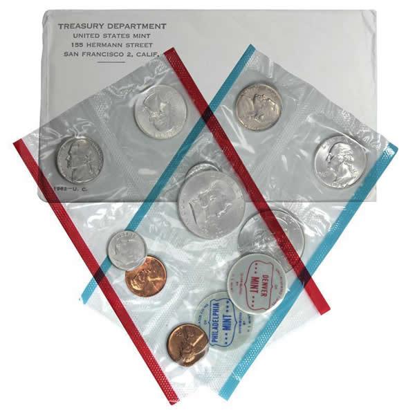 Unopened 1962 PD US Mint set 10 coins