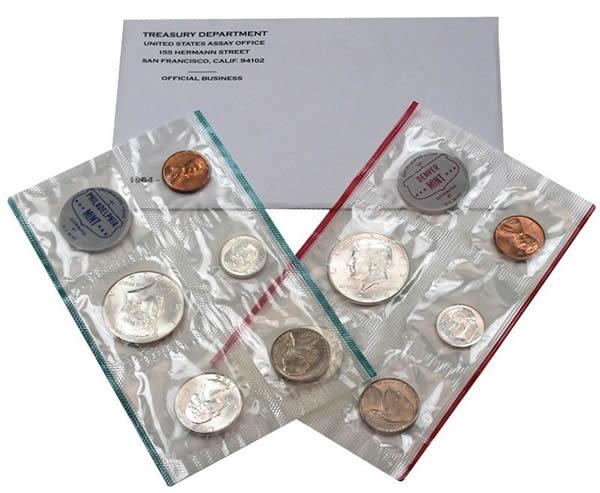 U.S Mint Silver Proof Set Original Envelope 1964 Birth Year