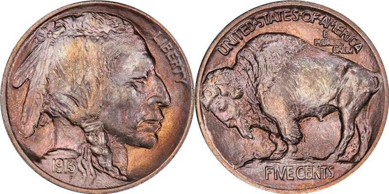 1913 Indian Head Buffalo Nickel