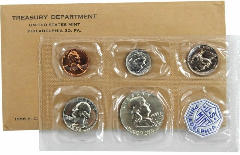 1955 Us Proof Set Mintage Figures And Contents From Coin