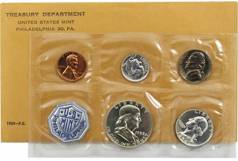 United States 1959 US Mint Coin Set Philadelphia