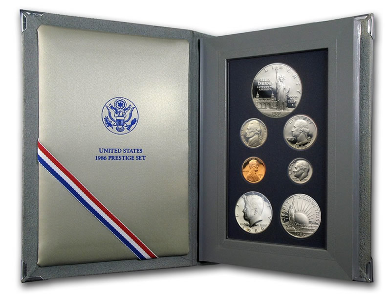 united states 1986 prestige coin set value