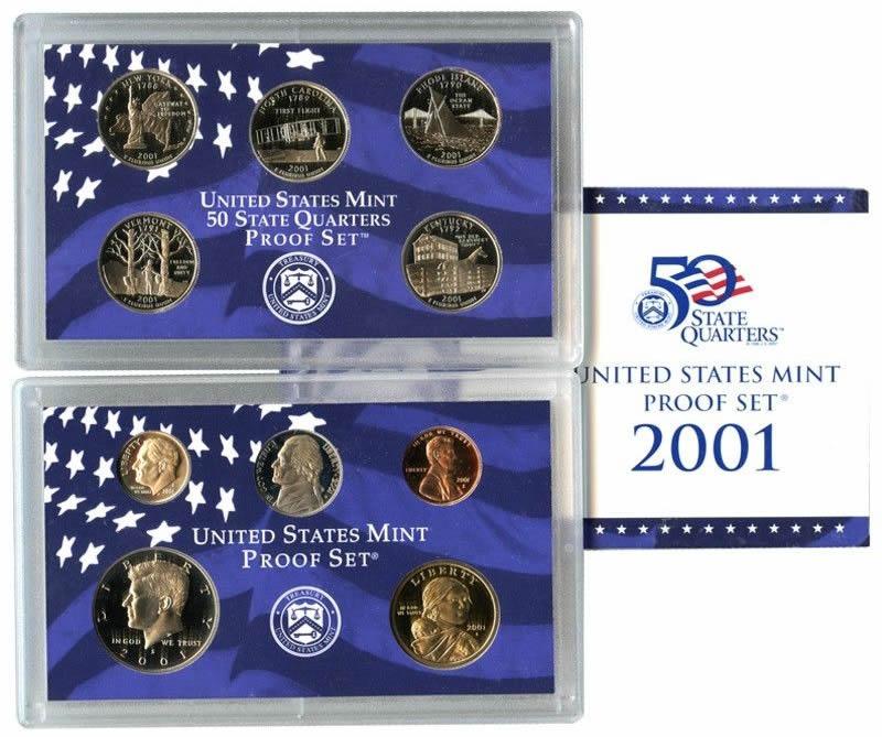2001 SILVER PARTIAL PROOF SET  no box or COA