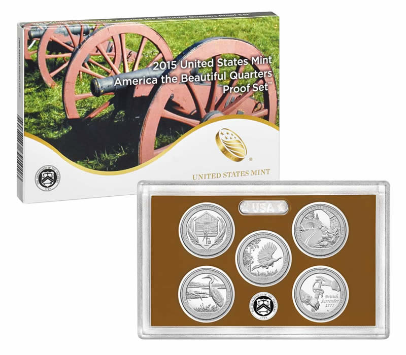 2015 Proof America the Beautiful - National Park Quarters Set 2015 Proof America the Beautiful - National Park Quarters Set