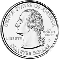 America the Beautiful Quarter Obverse