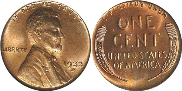 1933 D Lincoln Wheat Cent