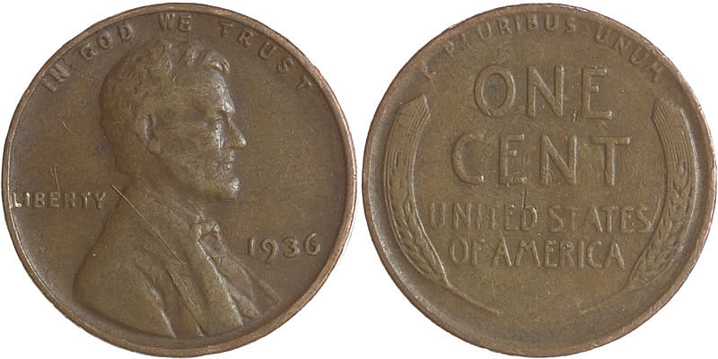 1936 Lincoln Wheat Cent