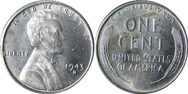1943 D Lincoln Wheat Cent