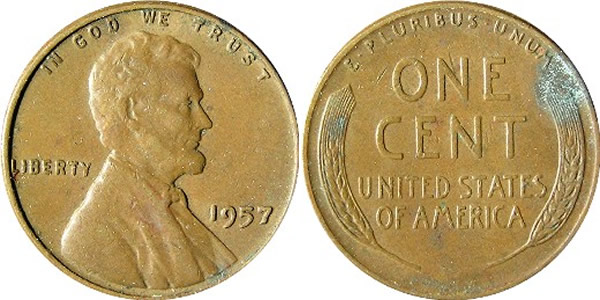 1957 Lincoln Wheat Cent