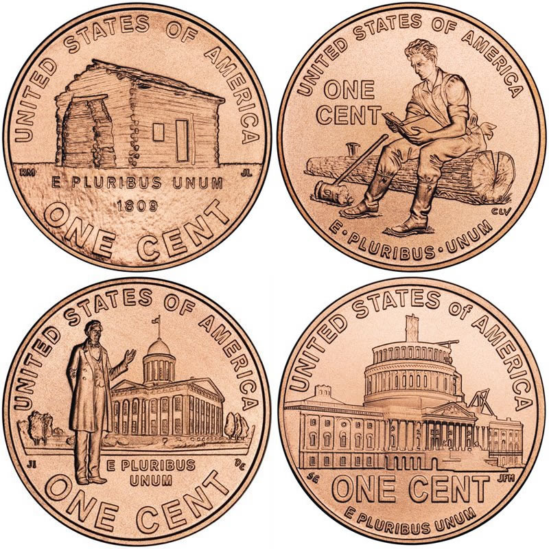 Lincoln Bicentennial Cent Photos Mintage Specifications